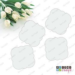 Baza acril alb - floare patrata, 4 buc.