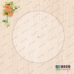 Cadran ceas, acril transparent - Rotund, 20cm