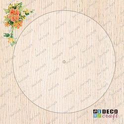 Cadran ceas, acril transparent - Rotund, 25cm
