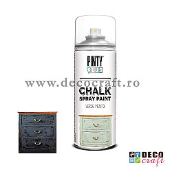 Chalk paint spray, 400ml, Pinty Plus - Negru plumburiu