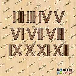 Cifre ceas, din lemn - Ary M - 3cm