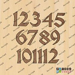 Cifre ceas, din lemn - Celtic L - 4cm