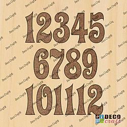 Cifre ceas, din lemn - Zigi L - 4cm