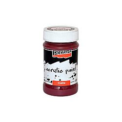 Culoare acrilica mata - 100 ml - Bordeaux