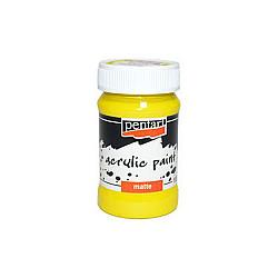 Culoare acrilica mata - 100 ml - Galben
