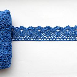 Dantela bumbac - Albastru, 35mm