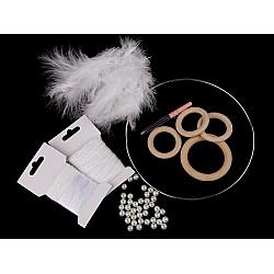 Set creativ - Dreamcatcher, Ø20 cm - alb