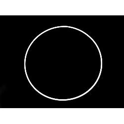 Cerc metalic pentru dreamcatchere, Ø20 cm - alb