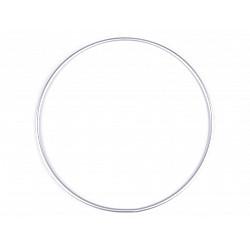 Cerc metalic pentru dreamcatchere, Ø25 cm - argintiu