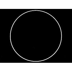 Cerc metalic pentru dreamcatchere, Ø35 cm - alb