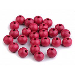 Mărgele din lemn, Ø10 mm (pachet 20 g) - roz