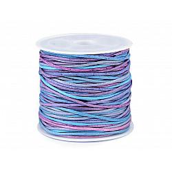 Șnur bumbac multicolor, Ø1 mm (rola 20 m) - albastru deschis