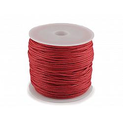 Șnur din bumbac cerat, Ø 0.8 mm (rola 25 m) - roșu