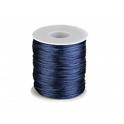 Șnur satinat, Ø1 mm (rola cca. 80 - 100 m) - albastru parizian