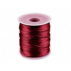 Șnur satinat, Ø1 mm (rola cca. 80 - 100 m) - roșu carmin