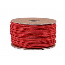 Șnur soutache din bumbac, lățime 4 mm (rola 20 m) - roșu