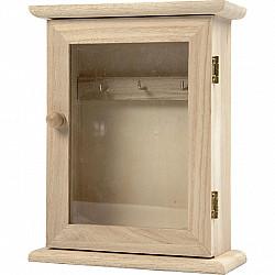 Dulap chei cu geam, dimensiune 18x14x6 cm, 1 buc.