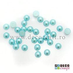 Jumatati perle 0.8 cm - Turcoaz, 30 buc