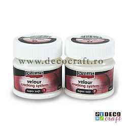 Medium de crapare bicomponent - Velour, 2x50ml