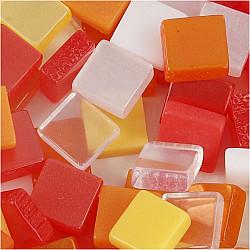 Mini Mosaic - 5x5 mm, grosime 2 mm - nuante de rosu/portocaliu, 25g