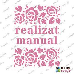 Mini-sablon - Realizat manual - 9x7.5 cm