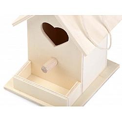 Căsuță din lemn pentru păsări - 7.5 x 10.5 x 9.3 cm
