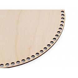 Fund din lemn pentru coșuri tricotate, Ø25 cm - natur deschis