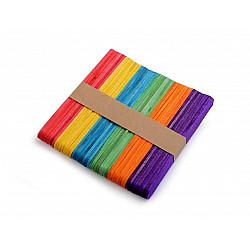 Bețișoare din lemn colorate (pachet 50 buc.) - 1 x 11.4 cm