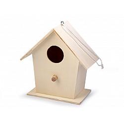 Căsuță din lemn pentru păsări - 12.5 x 6.5 x 13 cm