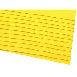 Coli fetru, 20x30 cm, 166 g / m², 2 bucati - galben