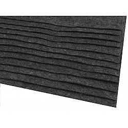 Coli fetru, 20x30 cm, 166 g / m², 2 bucati - gri cenușă