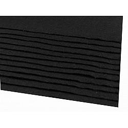 Coli fetru, 20x30 cm, 166 g / m², 2 bucati - negru