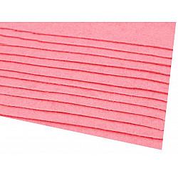 Coli fetru, 20x30 cm, 166 g / m², 2 bucati - roz mediu