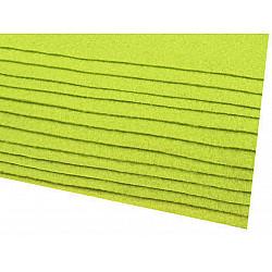 Coli fetru, 20x30 cm, 166 g / m², 2 bucati - verde lime