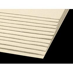 Coli fetru, 20x30 cm, 300 g / m², 2 bucati - galben vanilie