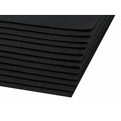 Coli fetru, 20x30 cm, 300 g / m², 2 bucati - negru