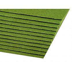 Coli fetru, 20x30 cm, 300 g / m², 2 bucati - verde de stepă