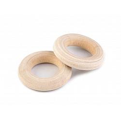 Inele din lemn, Ø12 mm (pachet 10 Buc.) - natur deschis