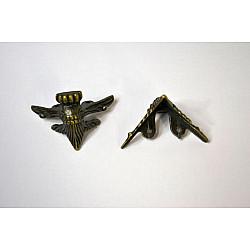 Picioruse metal antichizat - Clasic 5 x 5 cm, 4 buc.