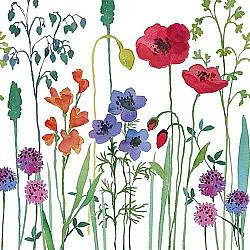 Servetele - Flori de camp pictate - 33x33cm, 1 pachet (20 buc.)