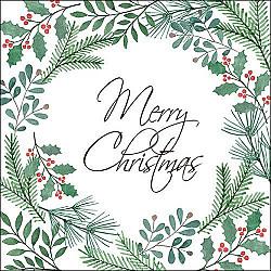 Servetele - Merry Christmas - 33x33cm, 1 pachet (20 buc.)