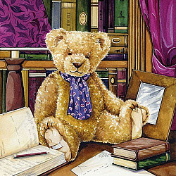 Servetele - Teddy in librarie - 33x33cm, 1 pachet (20 buc.)