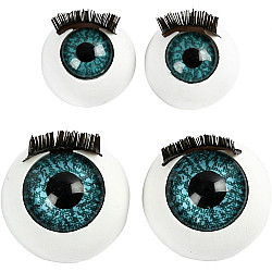 Set ochi albastri cu gene, 2 marimi