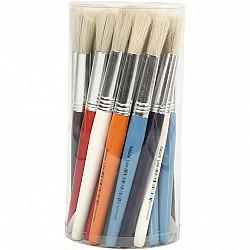 Pensula sablon colorata H: 15 mm, rotunda, 1 buc.