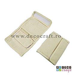 Portofel textil natural, 20x11 cm