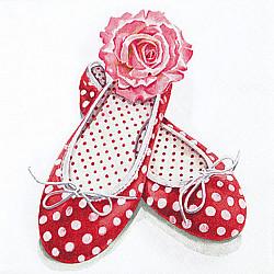 Servetele - Alice's Shoes - 33x33cm, 1 pachet (20 buc.)