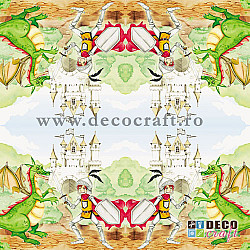 Servetele - Antreneaza-ti dragonul - 33x33cm, 1 pachet (20 buc.)