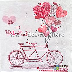 Servetele - Bicicleta indragostitilor - 33x33cm, 1 pachet (20 buc.)