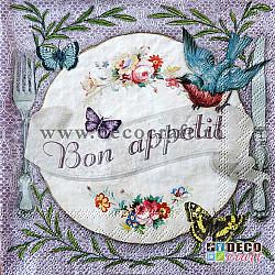 Servetele - Bon appetit! - 33x33cm, 1 pachet (20 buc.)