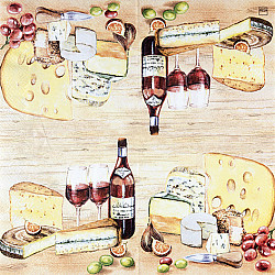 Servetele - Branza nobila - 33x33cm, 1 pachet (20 buc.)